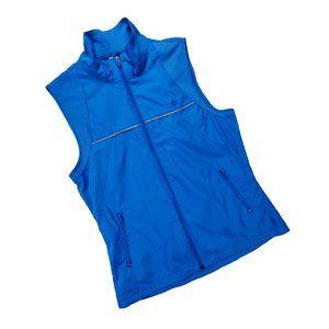 Danskin Now Blue Zip Running Vest size Small